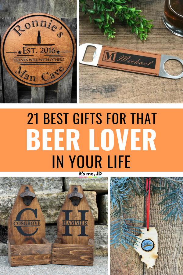 21 Best Gifts for Beer Lovers, Beer Gift Ideas That They Will Love #beerlover #beergift #beergifts #beersnob