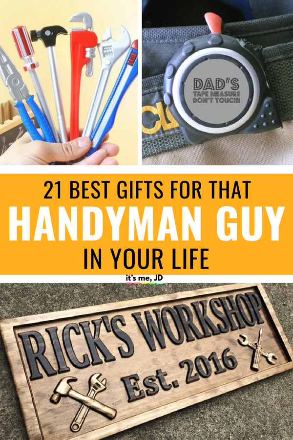 21 Best Gifts for The Handyman Guy In Your Life #handyman #handymangifts #fathersday
