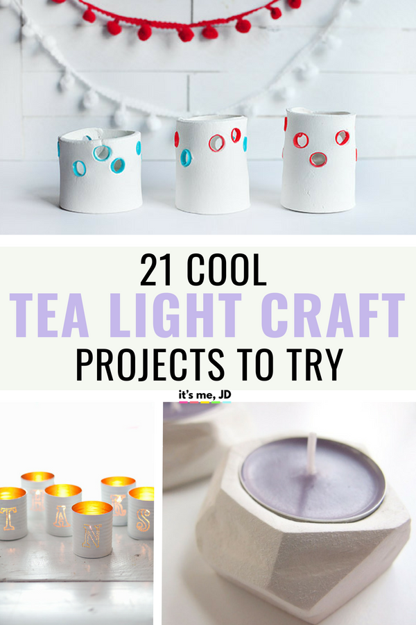21 Cool Tea Light Craft Projects to Try #tealight #tealightcraft #candle #candleholder