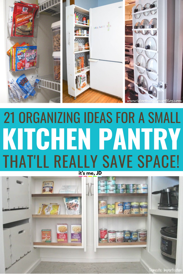 21 Small Kitchen Pantry Organization Ideas To Really Save Space #organization #kitchenorganization #pantryorganization