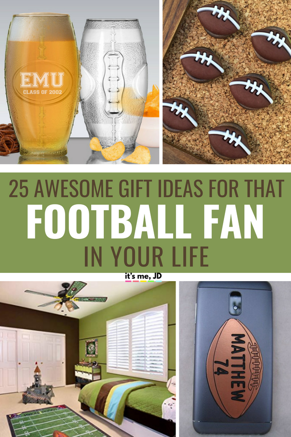 25 Awesome Gifts For That Football Fan In Your Life #footballlover #footballgift #footballfan #footballgiftideas