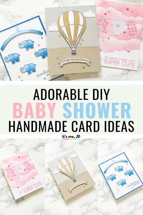 Adorable DIY Baby Shower Card Ideas That Anyone Can Do #babyshower #cardmaking #handmadecard #papercraft
