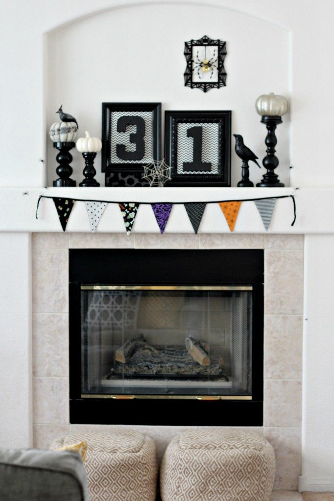 "Add a ""31"" and some crows for the perfect Halloween Mantel."