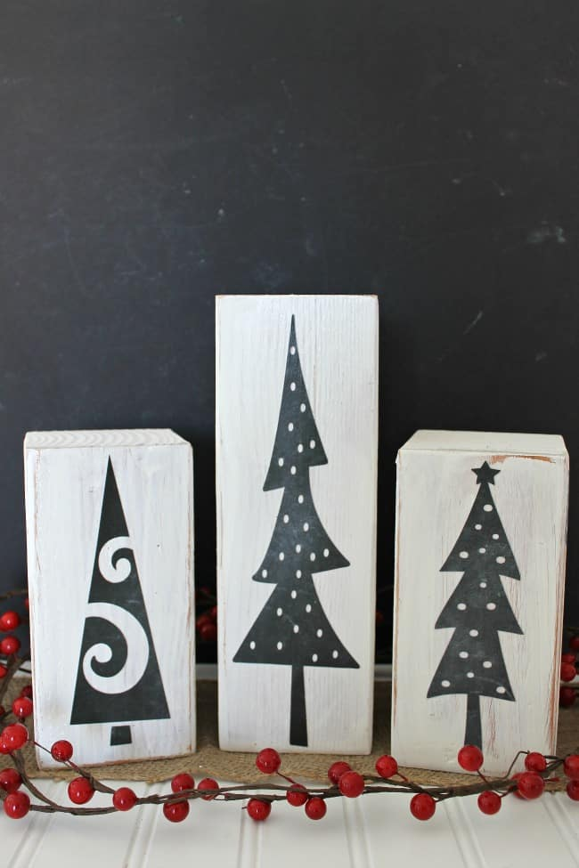 These faux Chalkboard DIY Christmas Trees are perfectly simple to make.