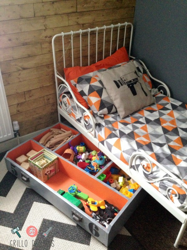 An under bed toy storage box I hacked using an old IKEA PAX drawer.