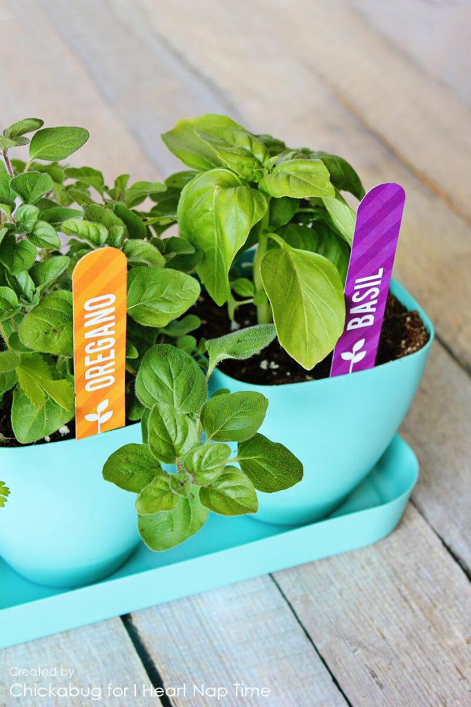 What good is an herb garden without some darling markers to keep those herbs straight!  This printable set is easy to make and will bring a ray of sunshine to any herb garden.