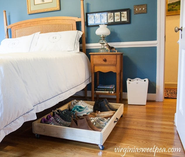 Utilize the space under your bed with a DIY Under Bed Storage Drawer.