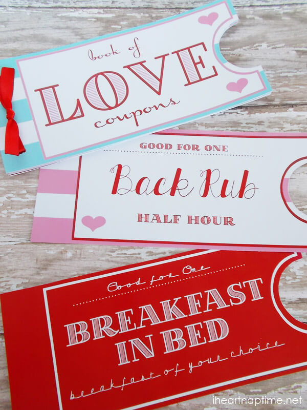 This DIY love coupon book is a gift that you get to use all year long.