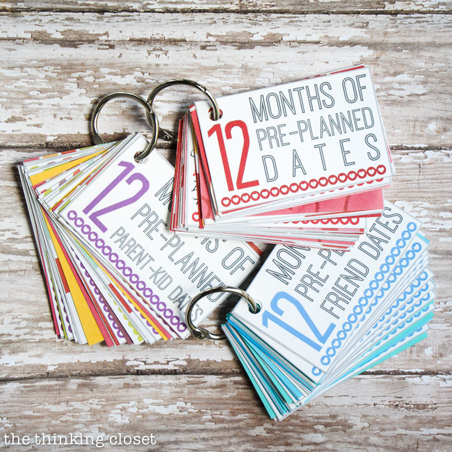 Not only can you create a mini-book of dates to gift on all occasions, but for all the loved ones in your life. They can be significant-other dates, parent-kid dates, family dates…there's even a version to gift as a wedding present.