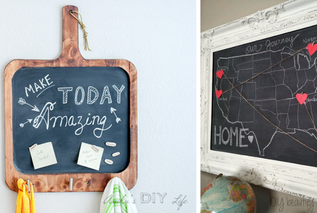 15 Easy DIY Chalkboard Project Ideas That Are Perfect For Beginners