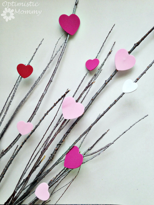 Gather your supplies and give this easy heart tree Valentine's Day centerpiece a try. It is a wonderful way to get festive this season for sweethearts!