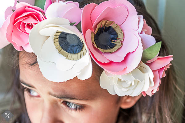 Using Cricut's Make It Now feature is easier than you think. Just choose your project and press go! Create this paper floral crown with your Cricut Explore.