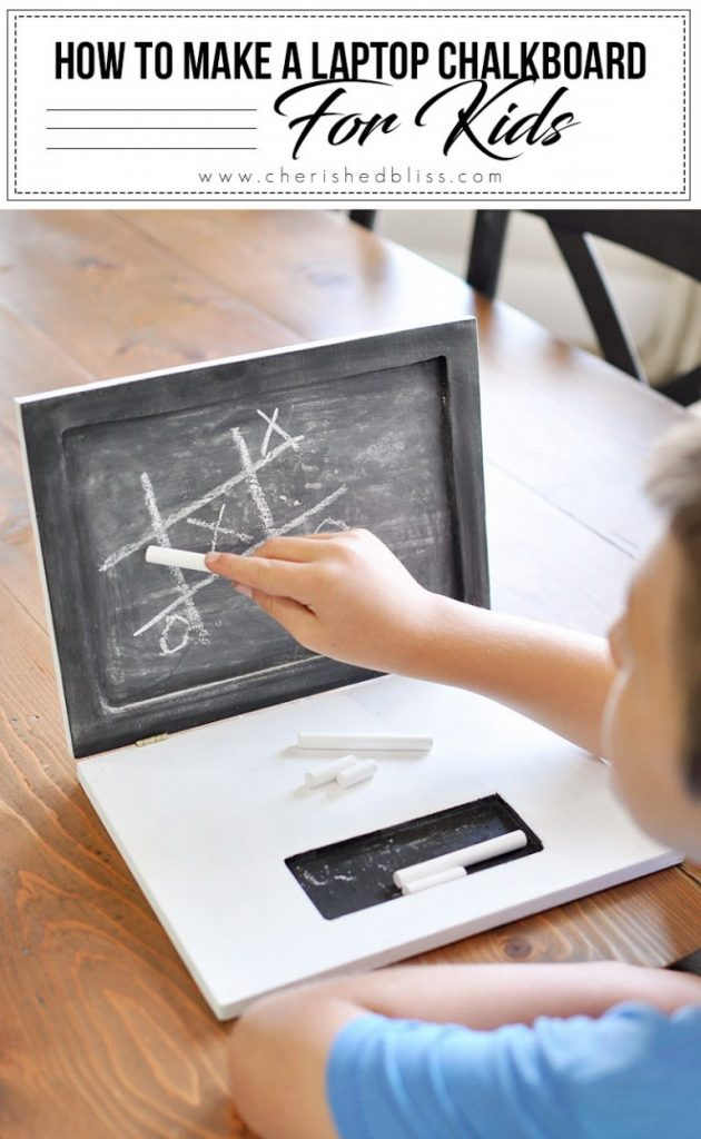 This Laptop Chalkboard is perfect for playing at home or on the go!
