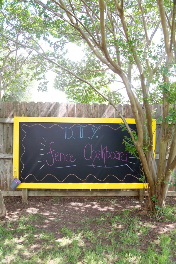 Hang this chalkboard on your fence and the kids will have a blast!