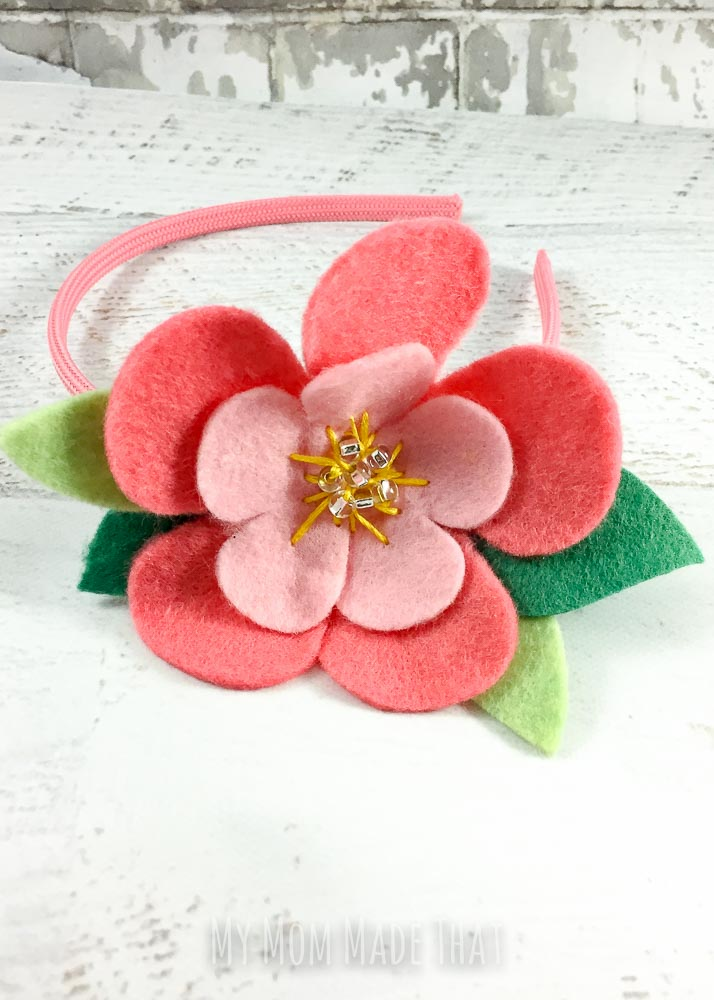 A headband that can be used as a craft for a party or a rainy day - and is so easy to make!