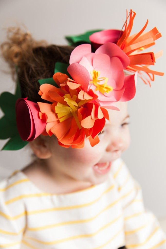Every good spring party needs an abundance of flowers – and this paper flower crown is about as easy as it gets.
