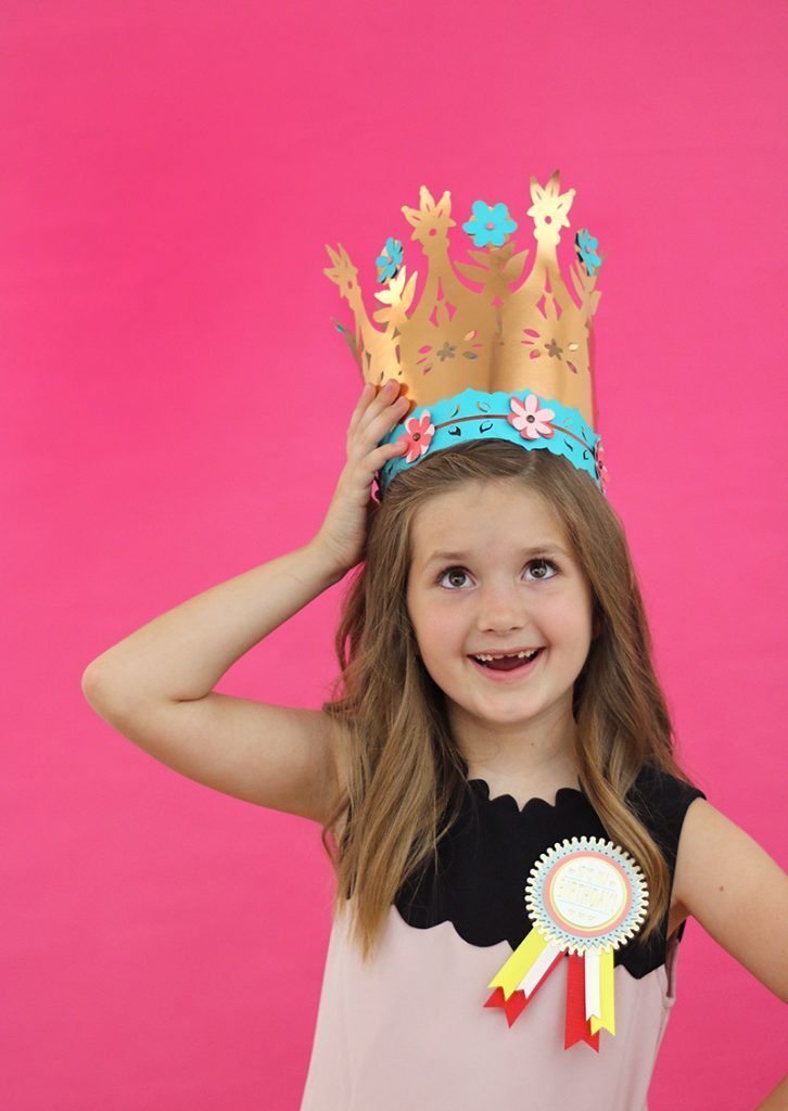 These DIY paper crowns are so fun to put together and are pretty simple to make with these free templates and cut files.