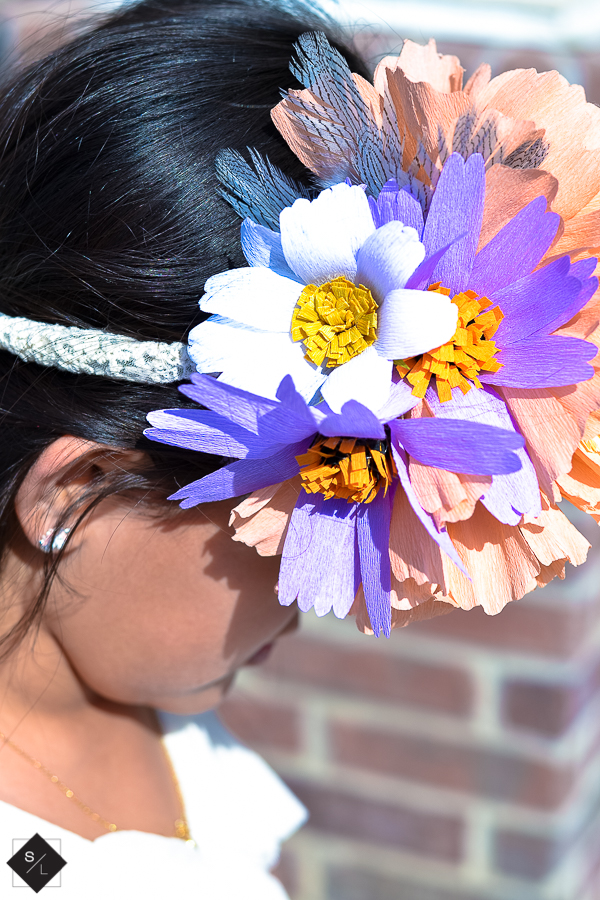 These paper flowers are so easy to cut using your Cricut. Use crepe paper to create a one-of-a-kind floral crown.