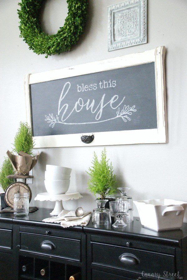 Turn the most unlikely items into a chalkboard for a fun project that will add whimsy to any room!