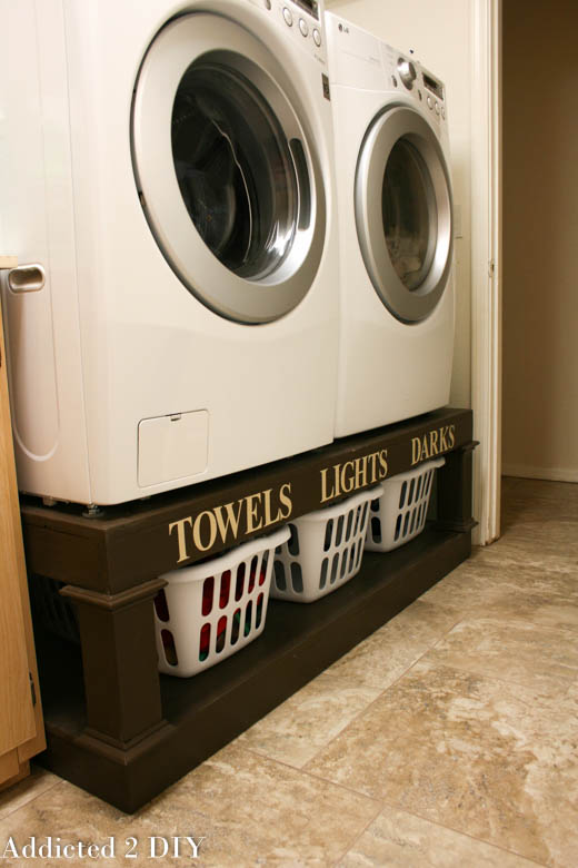 If you're needing more room in your laundry space, a pedestal for your appliances to sit on is the perfect space saving solution!