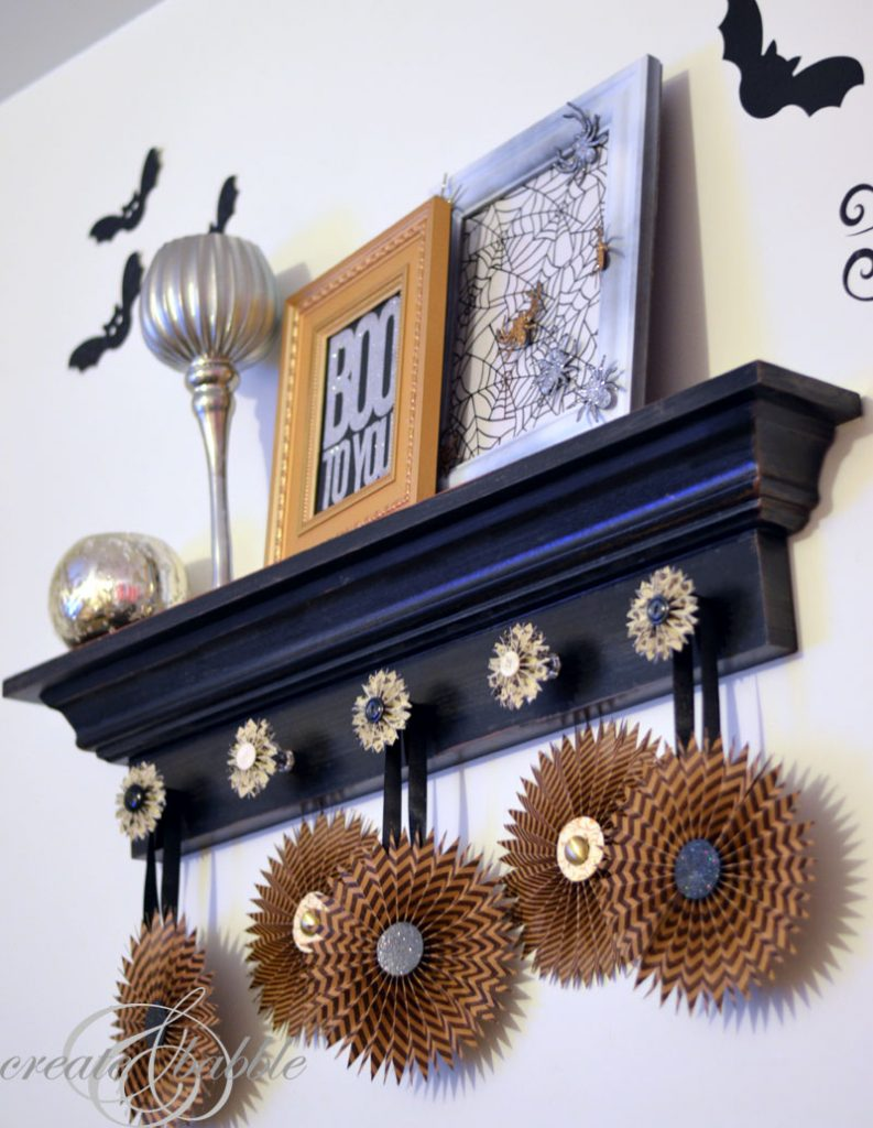 Just because you don't have a mantel doesn't mean you can't create one!