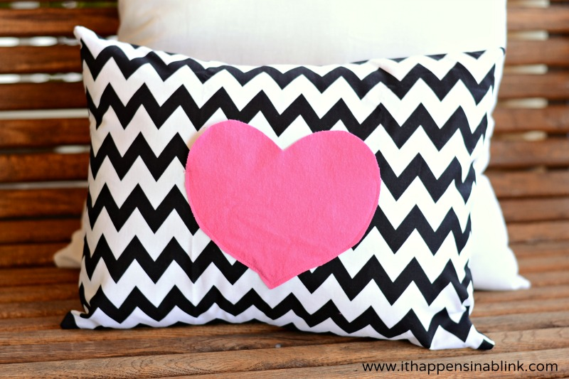 This Love Notes Pillow has a secret hiding pocket for leaving little notes or cards for that special Valentine. Put this pillow on your bed and leave sweet (or sexy!) notes for your significant other all month!