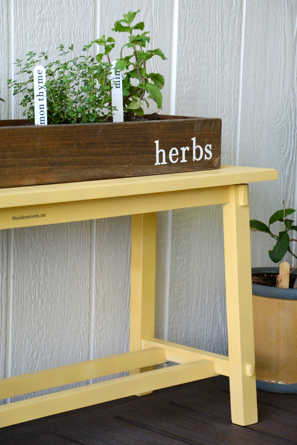 The perfect decor item that also doubles as an herb garden.