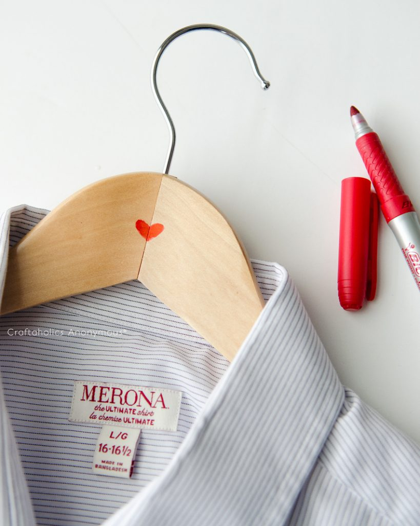 What better way to show him some love than with Love Hangers for his closet.