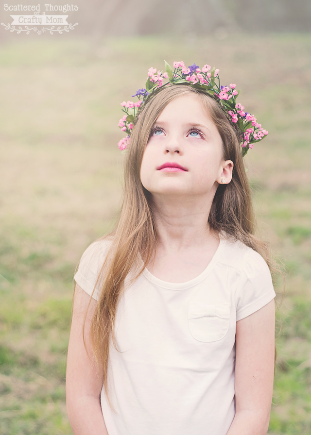 This project is so easy, and makes the best photo accessory! (And of course, what little girl wouldn't love a floral crown?)