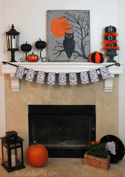 Making and distressing a sign is easier than you think and is surely the perfect spooky addition!