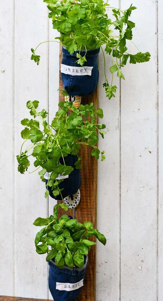 As well as looking good, the herbs in these handmade planters last longer as they are double potted which allows for easier watering and drainage.