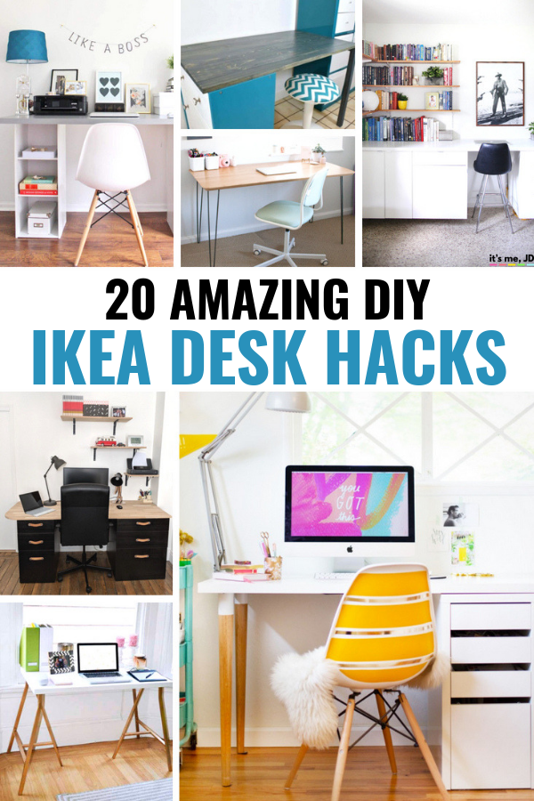 20 Amazing DIY Ikea Desk Hacks #ikea #ikeahacks #ikeahack #diyhomedecor #ikeafurniture