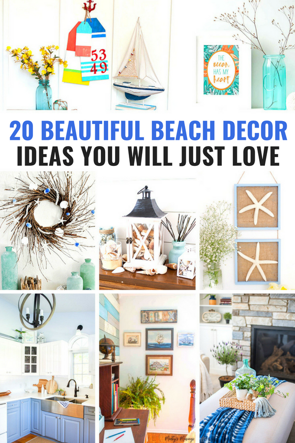 20 Beautiful Beach Decor Ideas You'll Love #beachdecor #coastaldecor #nauticaldecor #beachtheme #beachdecorations