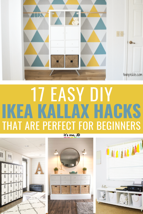 Easy DIY Ikea Kallax Hacks To Totally Transform Your Shelf #ikeahacks #ikeahack #ikeakallax #ikeakallaxhacks #diyikeahack