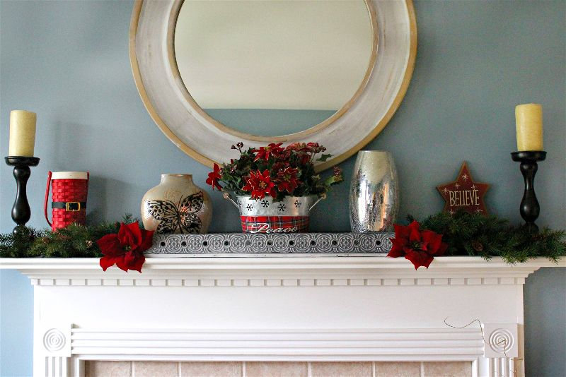 Style a beautiful, traditional Christmas Mantel with great decor items you may even have on hand!