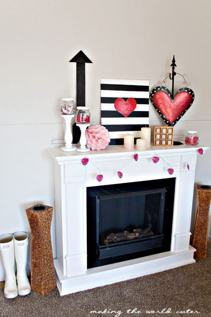 Pulling together decor from various stores (Hello, Target dollar spot!) can pull together the perfect mantel.