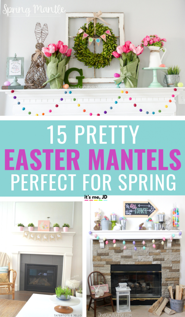 15 Pretty Easter Mantels That Are Perfect For Spring #easter #spring #easterdecor #easterdecorations #easterparty