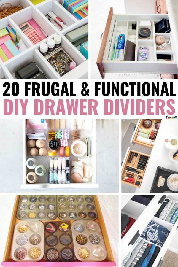 20 Frugal and Functional DIY Drawer Divider Ideas #diy #organization #drawerorganization #deskorganization
