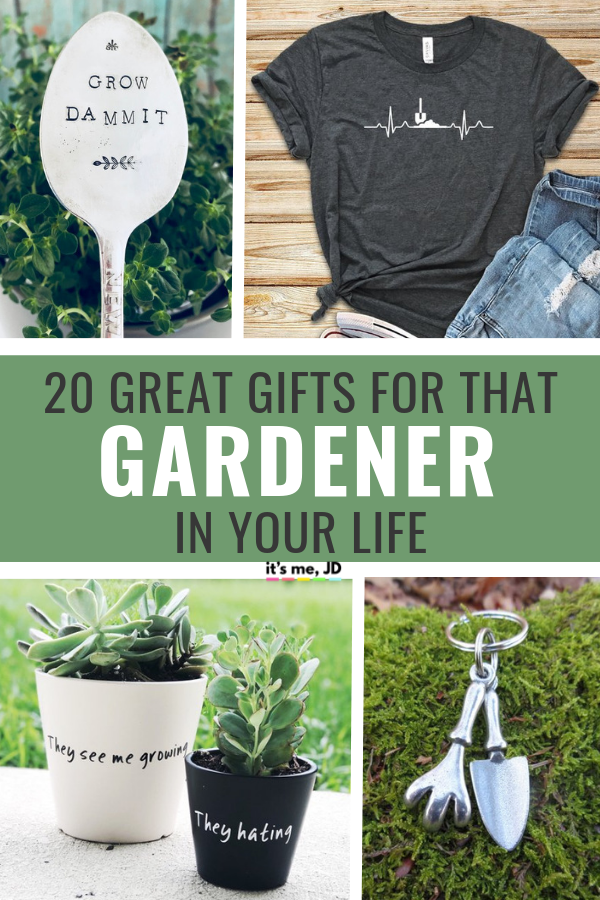 20 Great Gift Ideas For That Gardener In Your Life #gardenergifts #gardenergiftideas #giftsforgardener #giftforgardener #gardeninggifts #gardening