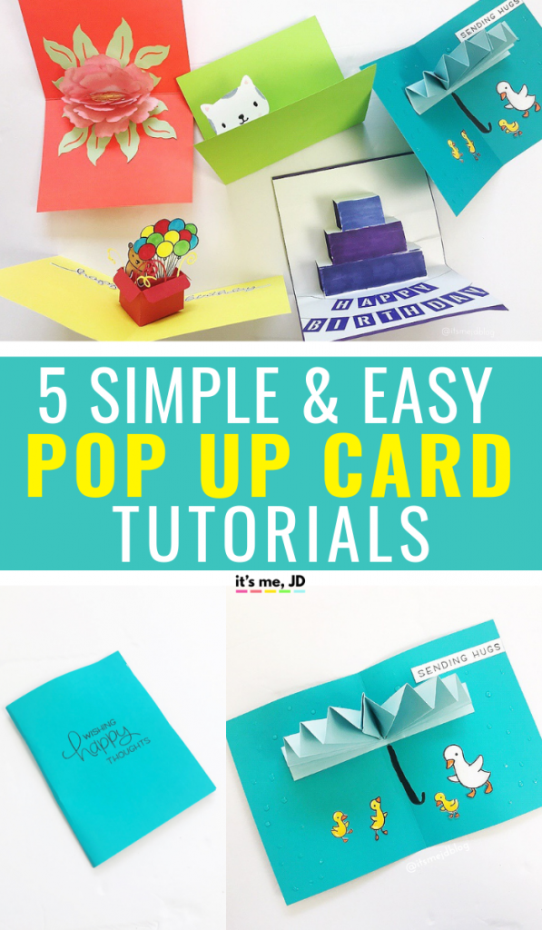5 simple and easy pop up card tutorials, DIY Greeting cards 3d, handmade paper crafts #papercrafts #popupcard #handmadecards