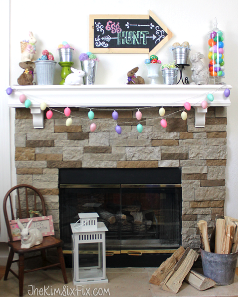 Showcase the many types of eggs you make this year with an Easter Egg Mantel!