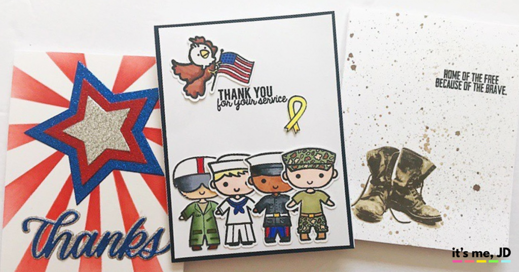 DIY Military Appreciation Cards To Thank Service Members and Veterans
