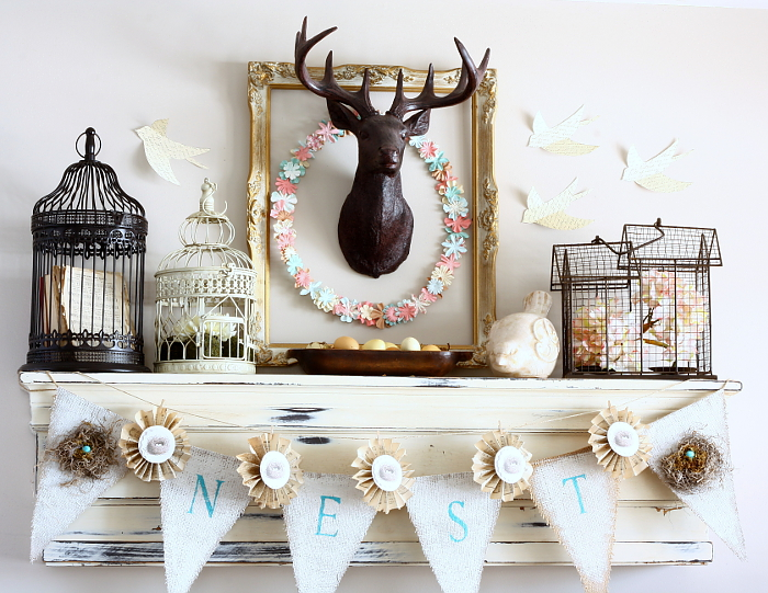 Who knew that a deer head could be utilized for Spring decor, as well?