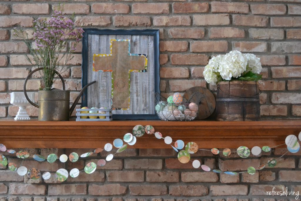You don't have to have a ton of decorations to make the perfect statement on your Easter Mantel.