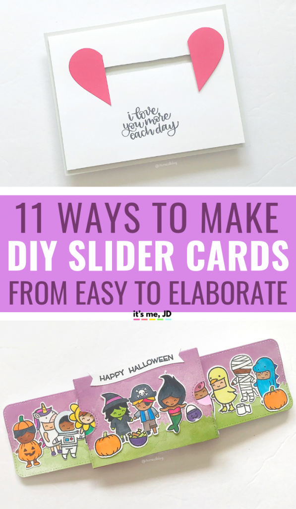 11 Ways To Make Slider Cards_ From Easy To Elaborate Tutorials #slidercard #papercrafts #cardmaking #handmadecard