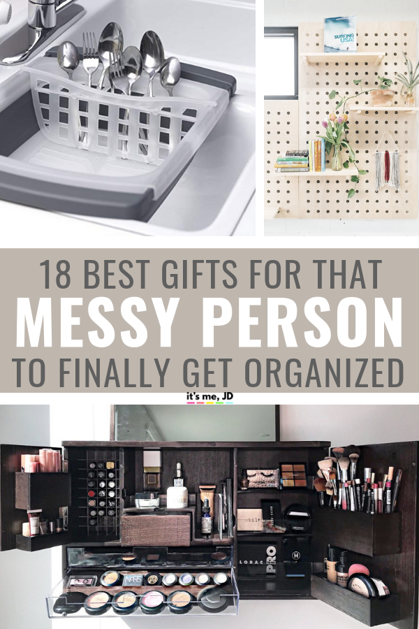 18 Best Gifts For The Messy Person In Your Life To Finally Get Organized #organization #organizationgift #giftideas
