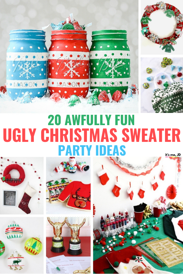 20 Awfully Fun Ugly Christmas Sweater Party Ideas To Get In The Holiday Spirit #uglysweater #uglychristmassweater #uglysweaterparty #christmasparty
