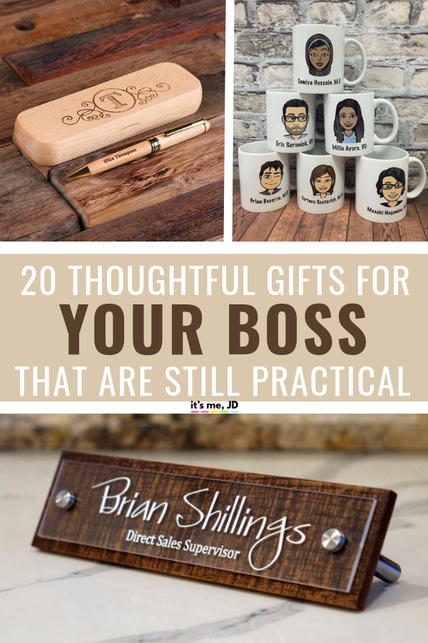 20 Best Gift Ideas For Your Boss, Gifts For Bosses, thoughtful unique but practical presents #giftideas #boss
