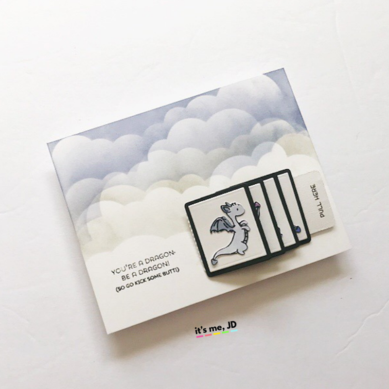 flip slider card or waterfall card