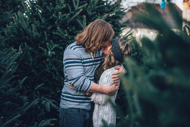 flirty christmas photo caption for couples